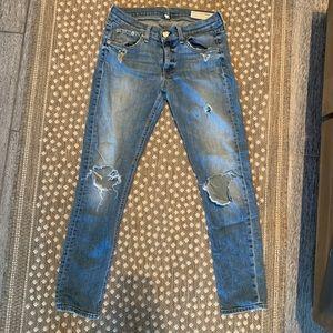 Rag and Bone Capri Jean with holes